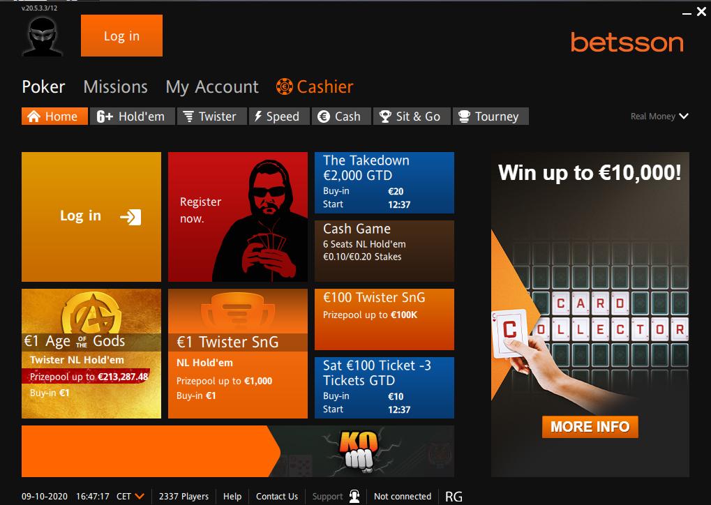 Betsson Poker Poker Rooms Pokerenergy