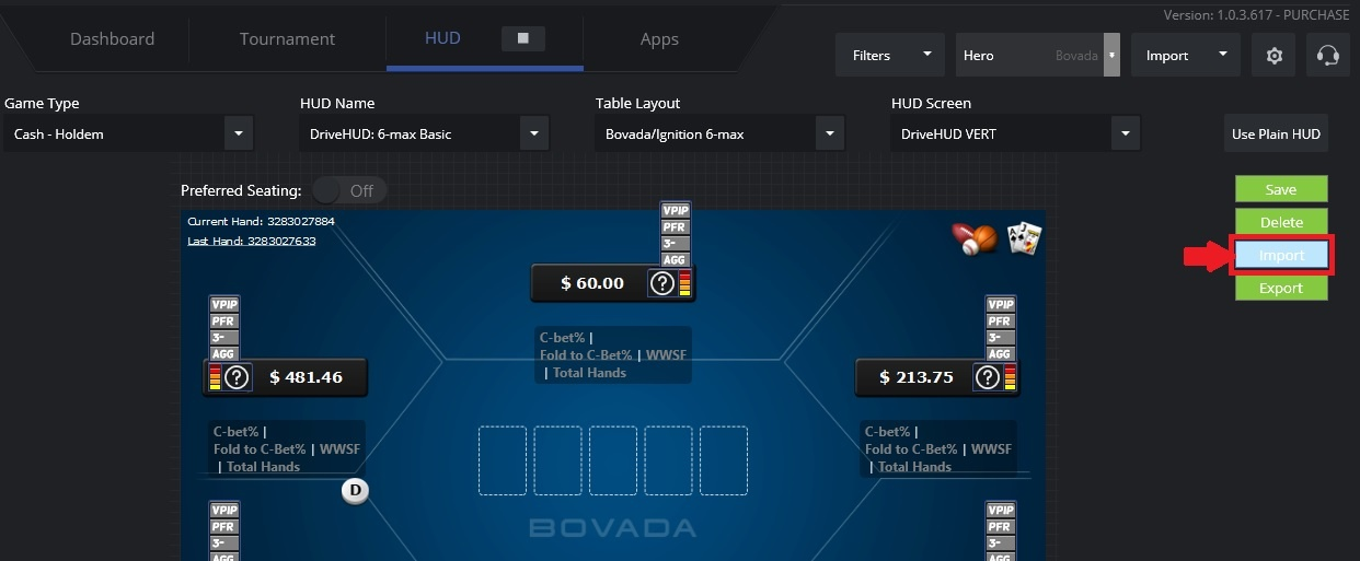 your personal poker HUD can be imported into the program in 8-10 seconds.