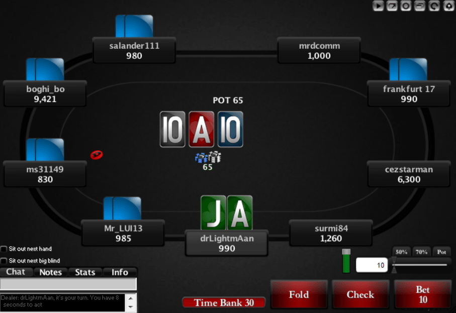 New themes (layouts) for Pokerstars