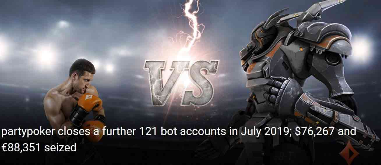 Partypoker banned a new batch of bots - July report