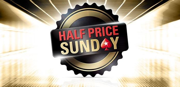 How to play at the biggest Sunday tournaments at Pokerstars at half price?