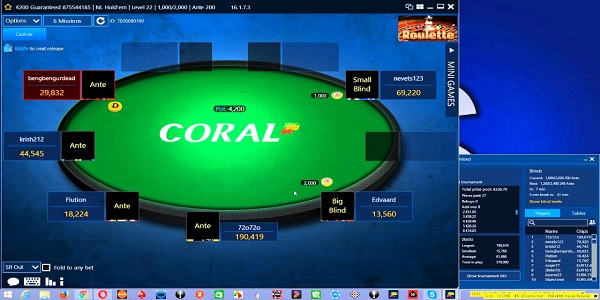 Coral Poker has finally moved to Partypoker