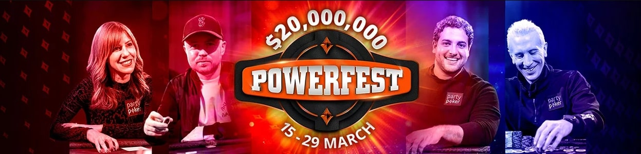 20 million from Partypoker as part of the March Powerfest