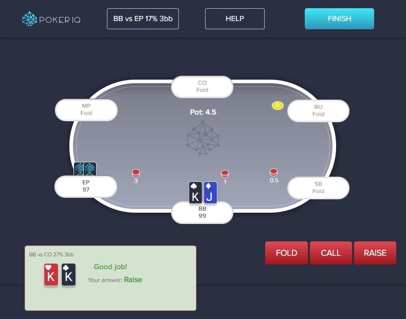 PokerIQ Trainer - perfect preflop strategy in just a few weeks