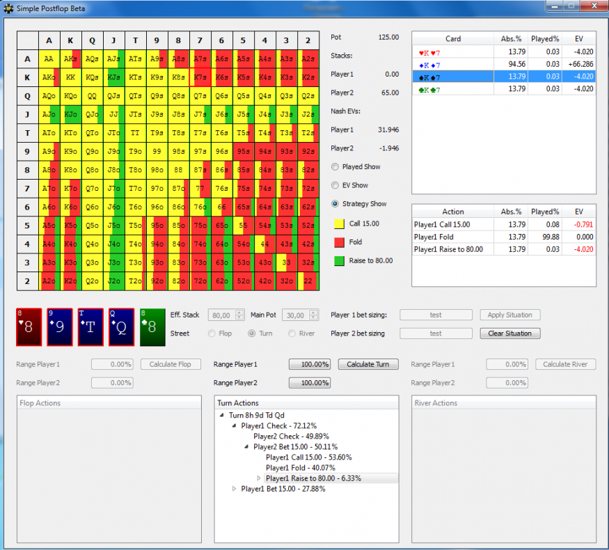 Simple Postflop | Poker software | Pokerenergy